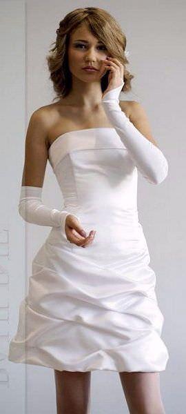 Разнообразие свадебной моды.  Короткие свадебные платья.
